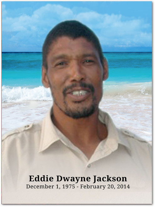 Caribbean In Loving Memory Memorial Portrait Poster