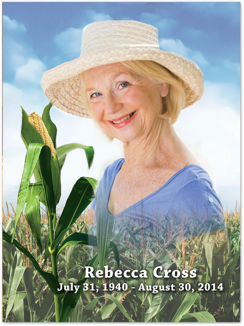 Cornfield In Loving Memory Memorial Portrait Poster