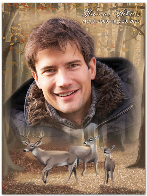 Deer In Loving Memory Memorial Portrait Poster