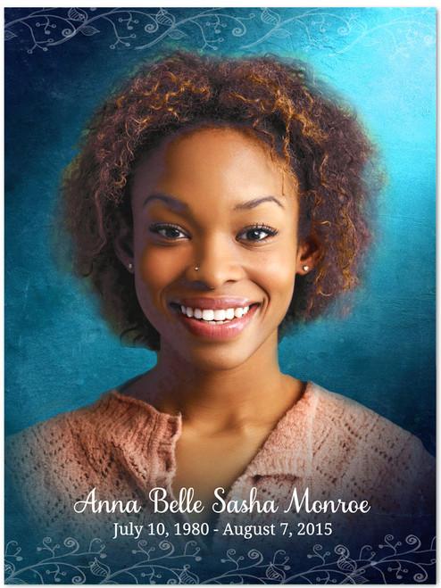 Devotion In Loving Memory Memorial Portrait Poster