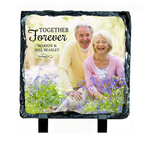 Large Square Slate Stone Memorial Plaques with Stand