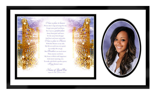 Pathway In Loving Memory Memorial Frame Plaque Keepsake