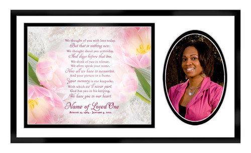 Pearls In Loving Memory Memorial Frame Plaque Keepsake