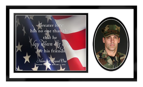 US Flag In Loving Memory Memorial Frame Plaque Keepsake