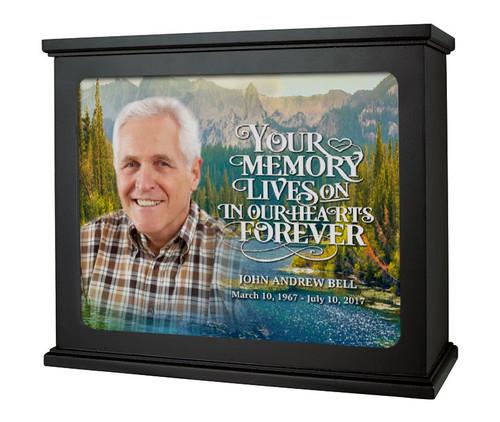 At The Lake Memorial Photo Light Box | Funeral Program Site