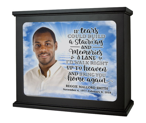 Stairway to Heaven In Loving Memory Photo Light Box Memorial