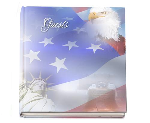 patriot funeral guest book