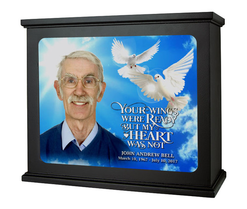 Your Wings In Loving Memory Memorial Photo Light Box