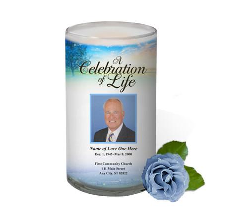 Destiny Memorial Glass Candle 3x6