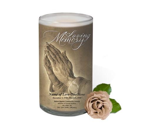Prayer Memorial Glass Candle 3x6