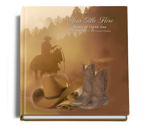 ranch funeral guest book