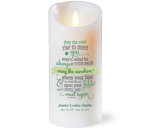 Irish Blessing Dancing Wick Memorial LED Candles