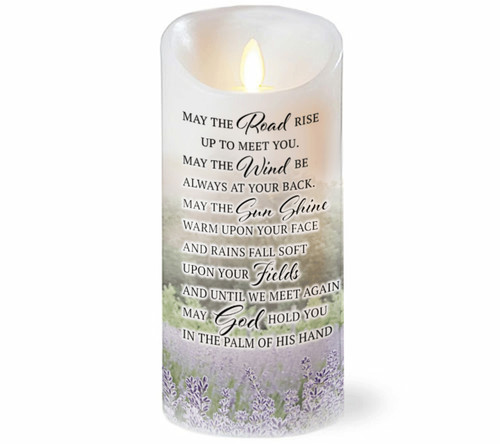 Irish Prayer Dancing Wick LED Candl