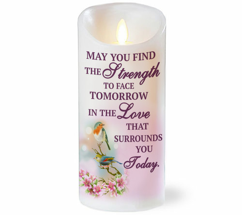 Strength For Today Dancing Wick Memorial LED Candles
