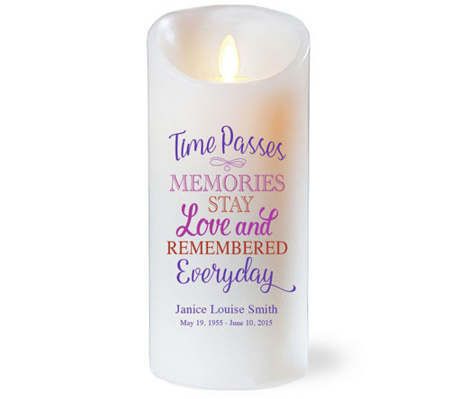 Time Passes Dancing Wick Memorial LED Candles