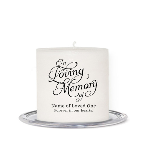 Loving Small Wax Memorial In Loving Memory Candle front