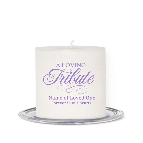 Tribute Small Wax Memorial In Loving Memory Candle front