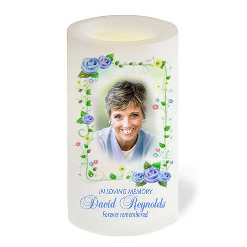 Flourish Flameless In Loving Memory Memorial LED Candle front