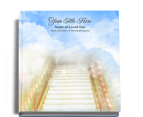 stairway funeral guest book