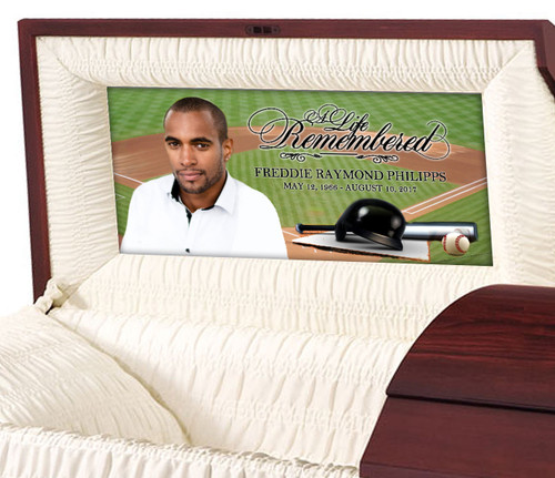 Baseball Casket Head Panel Insert
