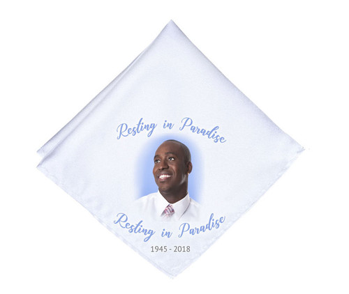 Simple Cameo Mens or Ladies Memorial Personalized Handkerchief