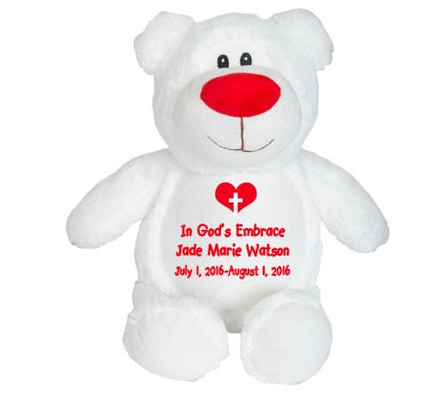 Whitey Teddy Bear Memorial Stuffed Animal/Urn