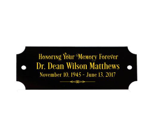 Personalized 7/8 x 2.5 Inch Decorative Black Brass Plate