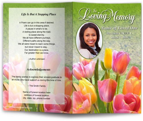 harvest funeral program template