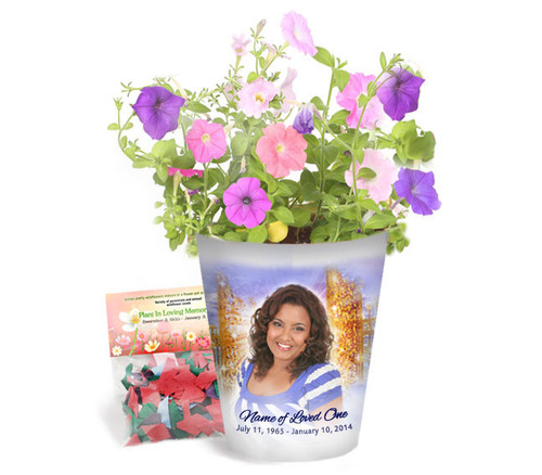 Pathway Personalized Memorial Ceramic Flower Pot