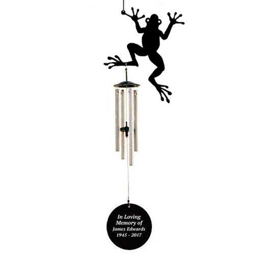 Personalized Frog Silhouette In Loving Memory Memorial Wind Chime