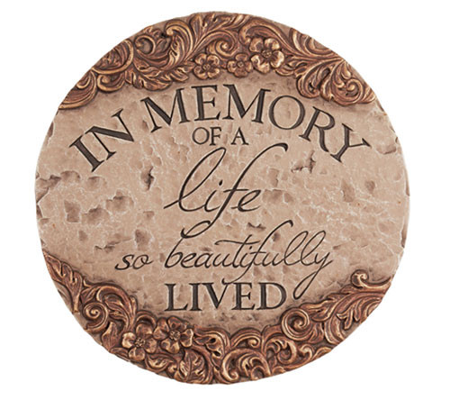 Personalized A Life Memorial Garden Stepping Stone