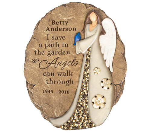 Personalized Angel Path Memorial Garden Stone