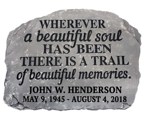 Personalized Beautiful Soul Memorial Garden Stepping Stone