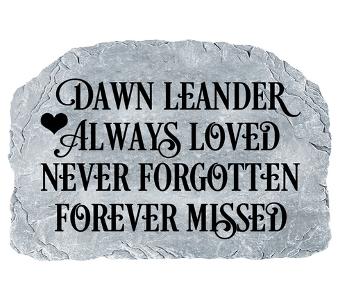 Personalized Always Loved Memorial Garden Stone