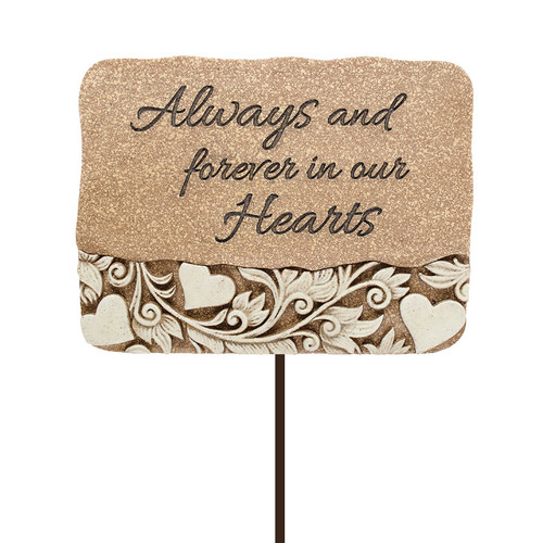Always & Forever Resin Garden Stake