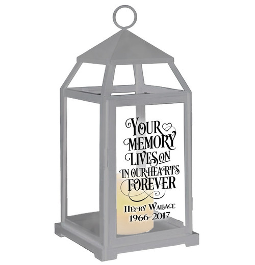 Your Memory Memorial Lantern With LED Candle