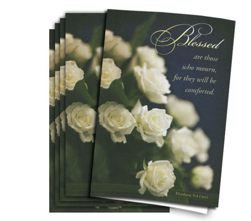 Blessed Are Those Memorial Paper funeral paper