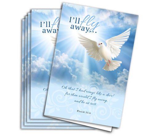 Fly Away Funeral Program Paper