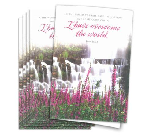 Overcome World Funeral Program Paper
