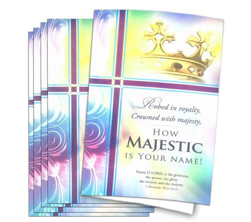 Royalty Crown Funeral Program Paper