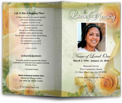 rejoice funeral program