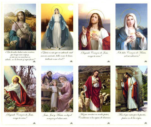 Latina Catholic Spanish Mass Prayer Card Paper (Set of 8)