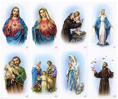Soft Edge Assorted Catholic Mass Prayer Card Paper (Set of 8)