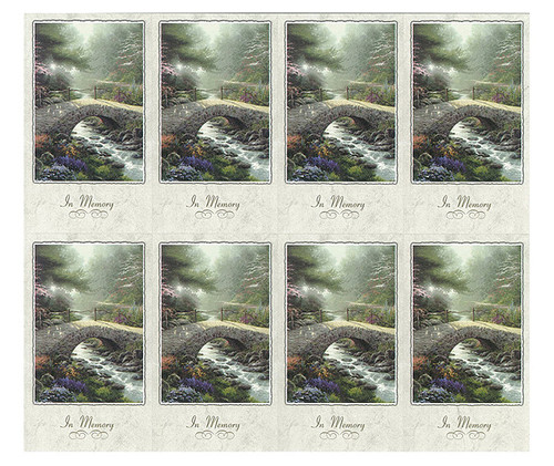 Thomas Kinkade® Bridge of Faith Prayer Card Paper (Set of 8)
