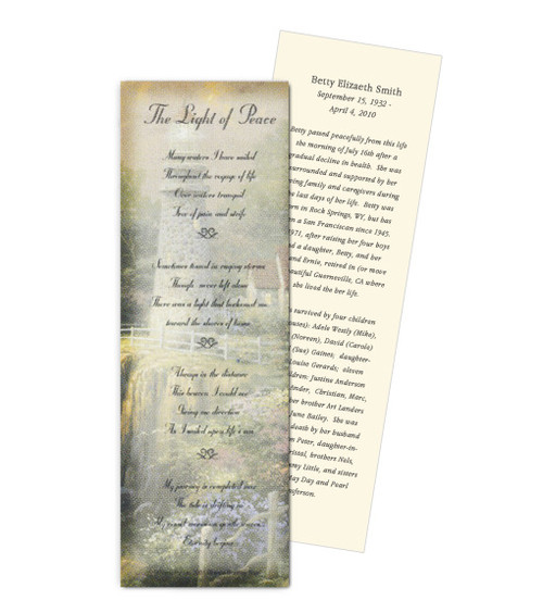 Thomas Kinkade® Sea of Tranquility Memorial Bookmark Paper (4 Per Sheet)