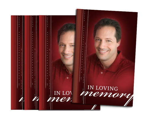 Solid Contemporary Bifold Funeral Program Design & Print