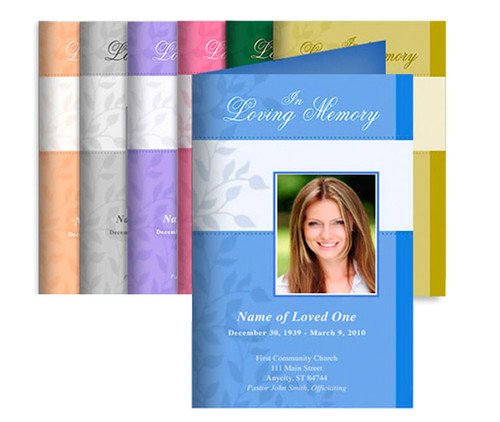 You Design, We Print Bifold Funeral Program