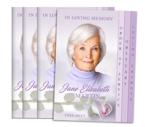 Beloved 8-Sided Graduated Funeral Program Design & Print (Pack 25)