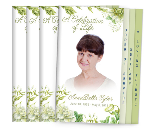 Perennial 8-Sided Graduated Funeral Program Design & Print (Pack 25)