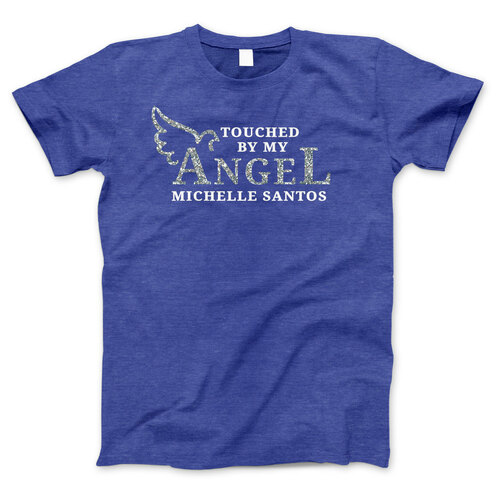 Touched By My Angel In Loving Memory T-Shirt (Ladies)